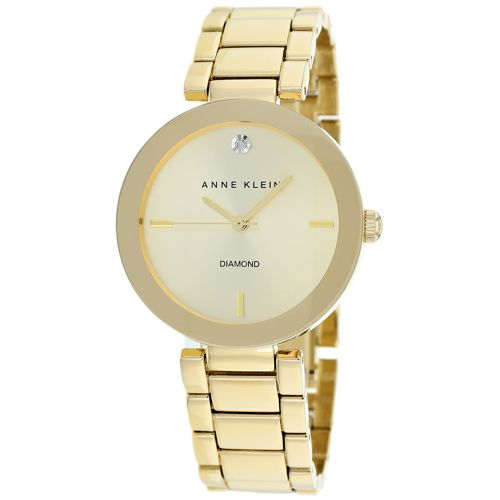 628-828 - Anne Klein Women's Classic Quartz Diamond Accented Bracelet Watch