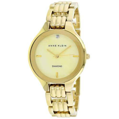 628-831 - Anne Klein Women's Classic Quartz Diamond Accented Bracelet Watch