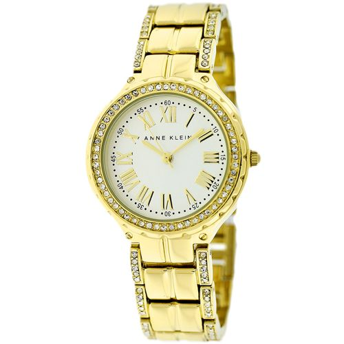 628-833 - Anne Klein Women's Classic Quartz Crystal Accent Dial Stainless Bracelet Watch