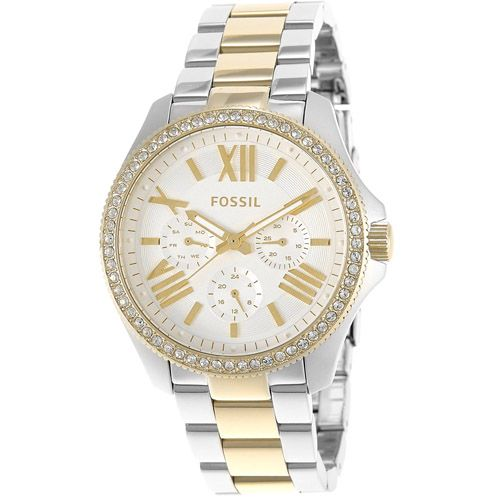 628-841 - Fossil Women's Cecile Quartz Multi Function Crystal Accented Stainless Steel Bracelet Watch