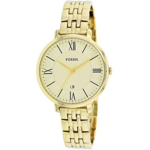 628-853 - Fossil Women's Jacqueline Quartz Date Stainless Steel Bracelet Watch