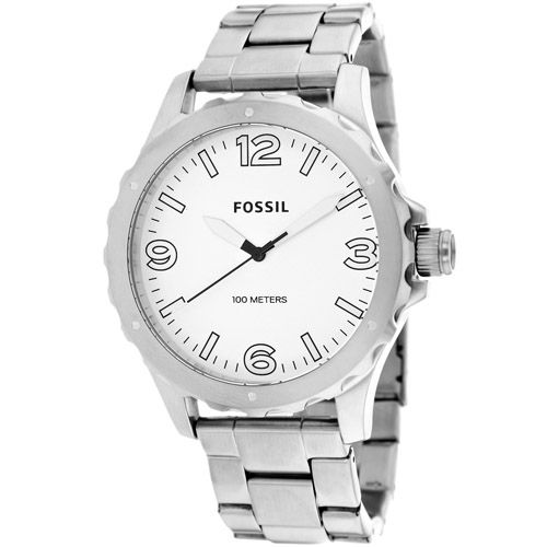 628-879 - Fossil 45mm Nate Quartz Stainless Steel Bracelet Watch