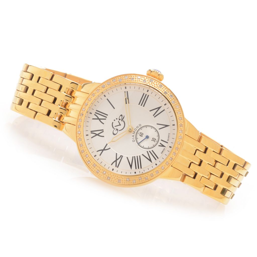 628-927 - GV2 by Gevril Women's Limited Edition Swiss Made Quartz 0.12ctw Diamond Watch