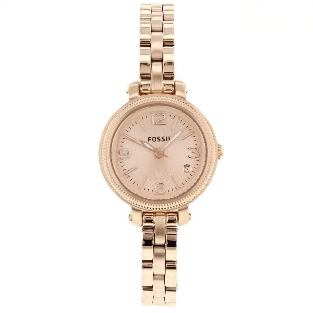 628-942 - Fossil Women's Heather Mini Quartz Date Stainless Steel Bracelet Watch