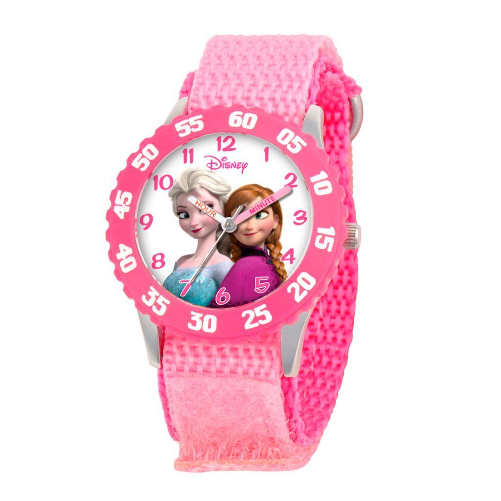 628-947 - Disney Kid's Frozen Elsa & Anna Quartz Nylon Strap Watch