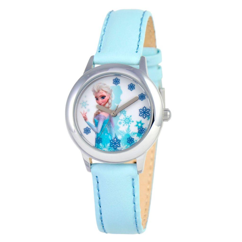 628-948 - Disney Kid's Frozen Elsa or Anna Quartz Leatherette Strap Watch