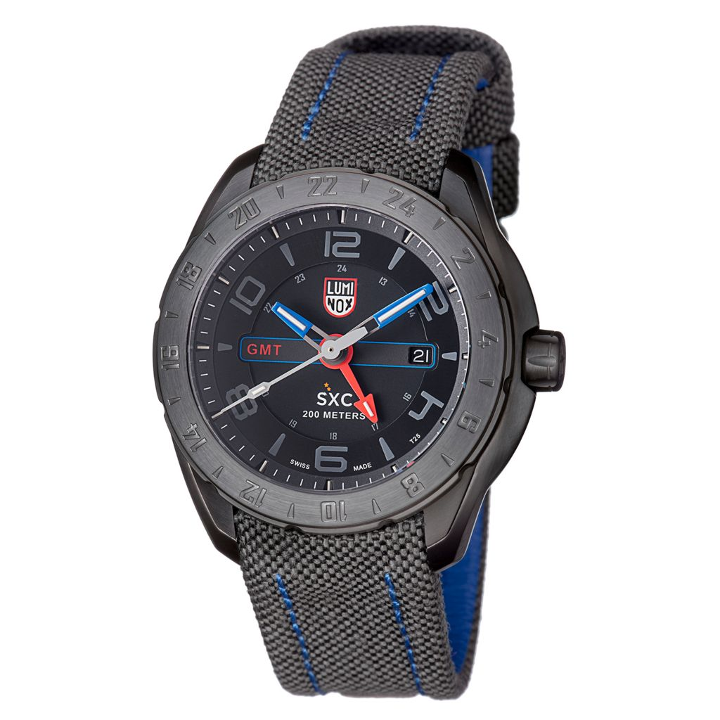 628-989 - Luminox Men's SXC Swiss Made Quartz GMT Date Strap Watch