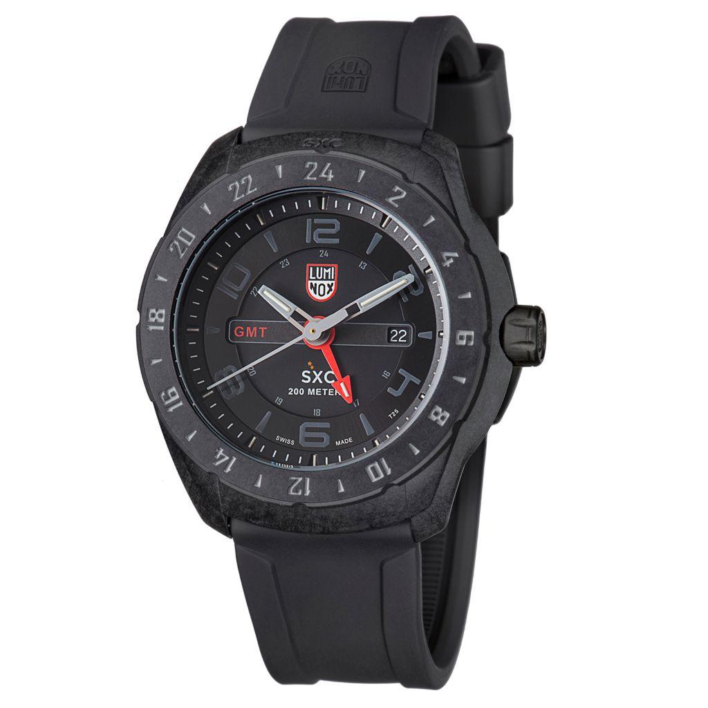628-992 - Luminox 46mm SXC Swiss Made Quartz GMT Date Rubber Strap Watch