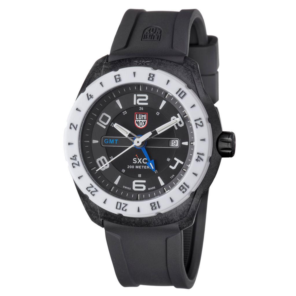 628-993 - Luminox 46mm SXC Swiss Made Quartz Date Rubber Strap Watch