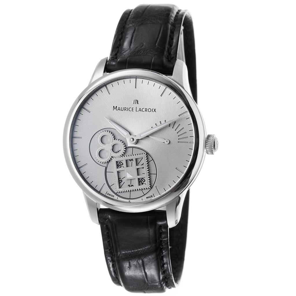 628-995 - Maurice Lacroix 43mm MasterPiece Swiss Made Mechanical Leather Strap Watch