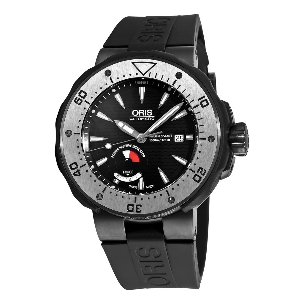 628-997 - Oris 49mm Pro Diver Col Moschin Swiss Made Automatic Rubber Strap Watch