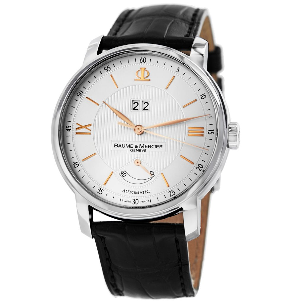 629-012 - Baume & Mercier 42mm Classima Swiss Made Automatic Leather Strap Watch