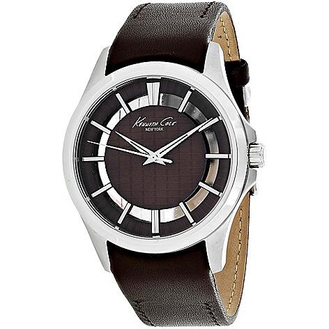 670175961af 645272 10029297 10022289. kenneth cole mens 45mm quartz leather strap watch  ...