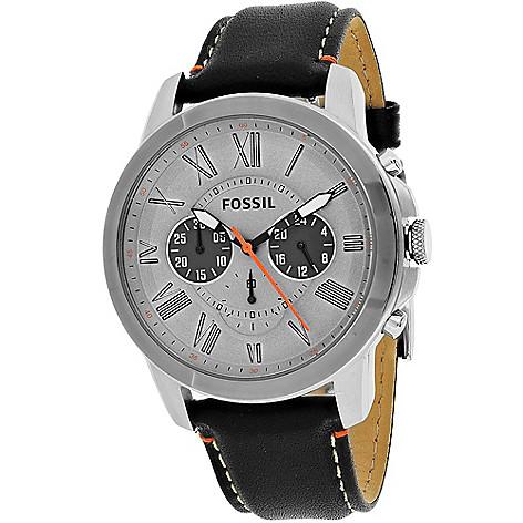 5636567fbf0 645745 30minute FS5237 FS5241 FS4886 796483289482. fossil mens 44mm grant  quartz chronograph leather strap watch ...