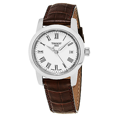 83c44f56ec4 647121 T0334101601301. tissot mens 38mm t classic swiss made quartz date leather  strap watch ...