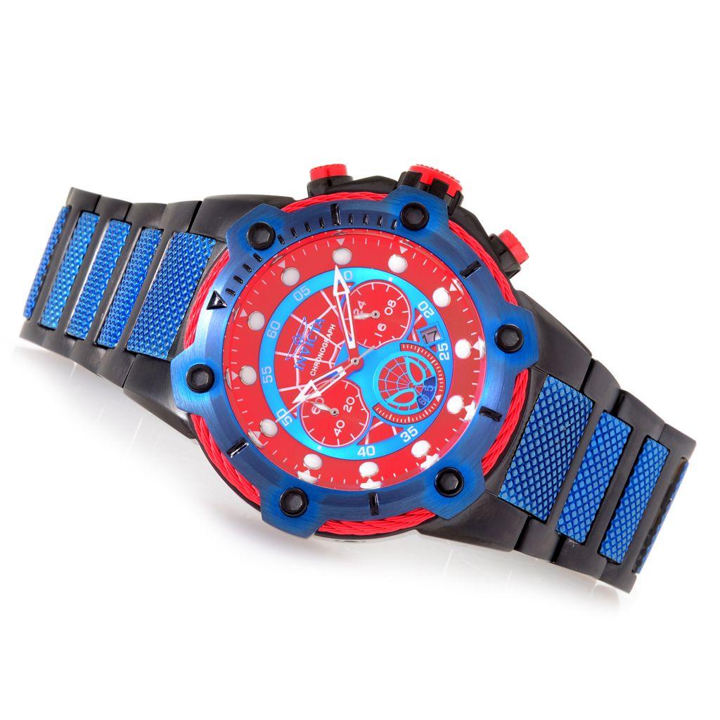 invicta marvel menu0027s 50mm bolt limited edition quartz chronograph stainless steel bracelet