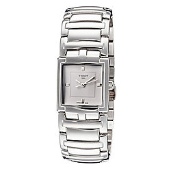 Tissot Women's Rectangular T-Collection Swiss Made Quartz Bracelet Watch