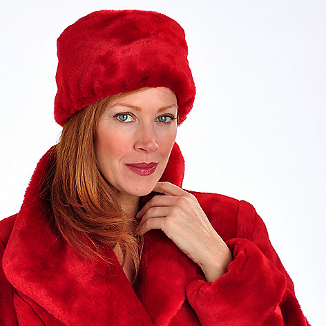 702-031 - Pamela McCoy Faux Fur Satin Lined Pillbox Inspired Hat