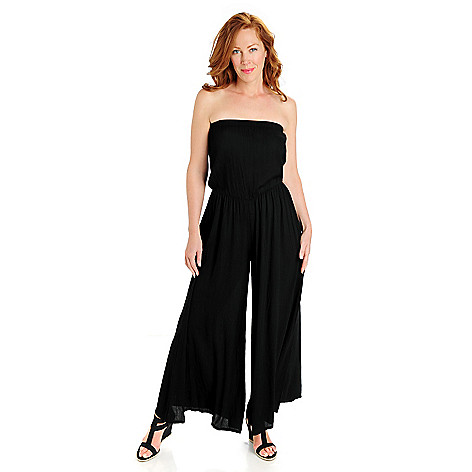 702-808 - aDRESSing WOMAN Crepon Bandeau Top Wide Legged Jumpsuit