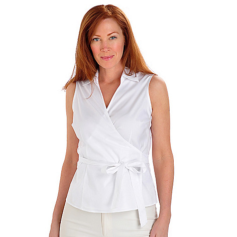 702-908 - Brooks Brothers Stretch Cotton Sleeveless Wrap