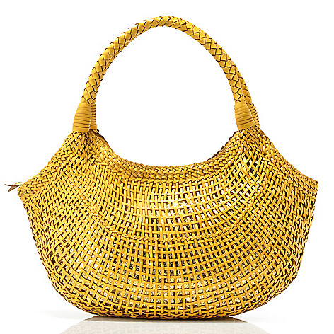 703-508 - Sophisticated Style Metallic Knit Slouch Hobo