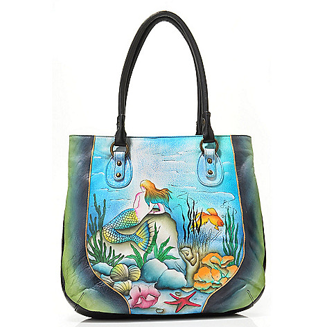 703-558 - Anuschka Hand-Painted Leather Large Tote