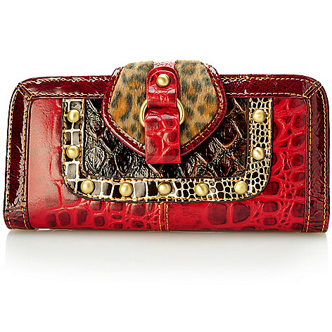704-152 - Madi Claire Croco Embossed Leather ''Cheyenne'' Wallet