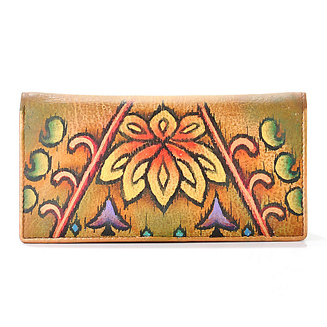 704-254 - Anuschka Hand-Painted Leather Clutch Wallet