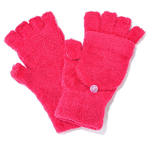 704-342 - Collection XIIX Convertible Flip Texting Chenille Gloves / Mittens