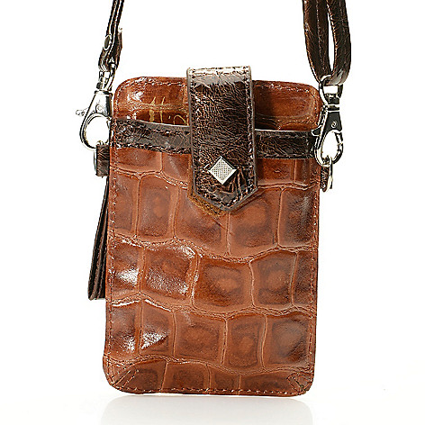 704-425 - Madi Claire Croco Embossed Leather Coin Purse/ Phone Case