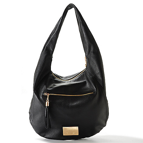 704-480 - Jack French London Leather ''Motcomb'' Tassel Detail Hobo Handbag