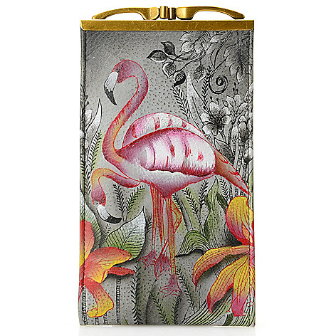 704-496 - Anuschka Hand-Painted Leather Double Eyeglass Case