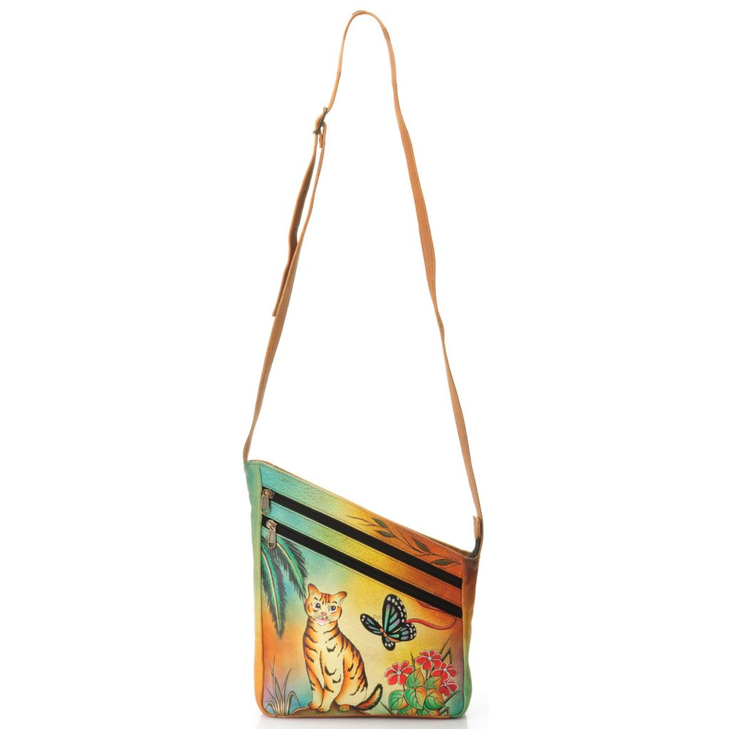 704-633 - Anuschka Hand-Painted Leather Cross Body Bag