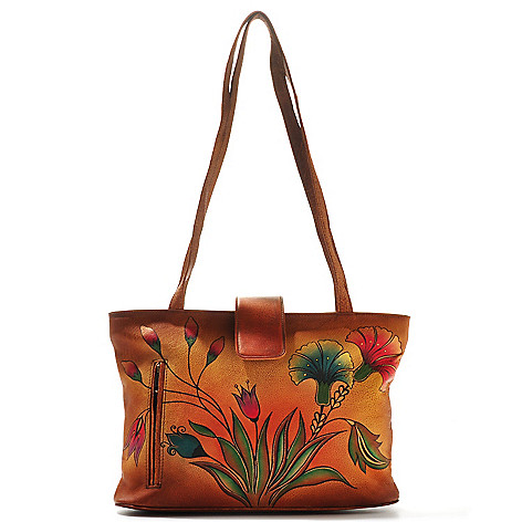 704-636 - Anuschka Hand-Painted Leather Tote Bag