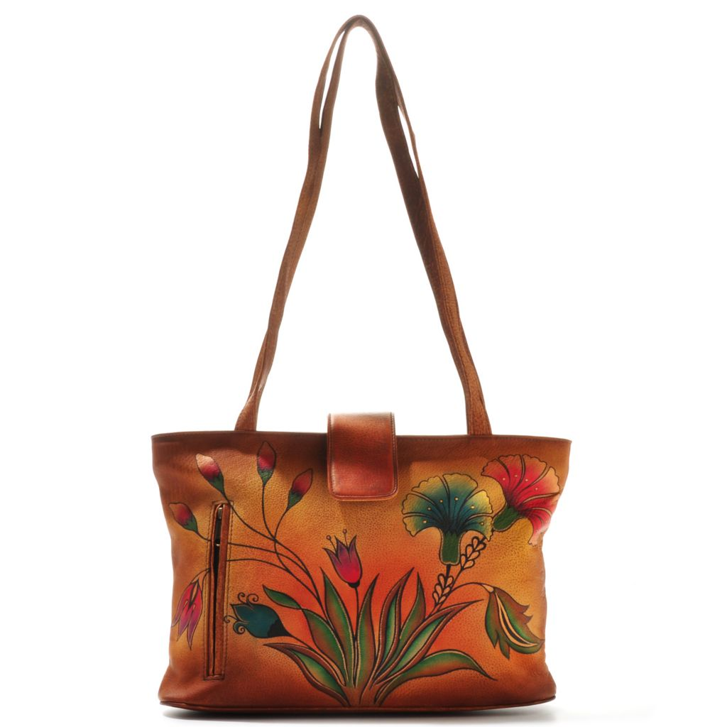 704-636 - Anuschka Hand-Painted Leather Double Handle Tote Bag