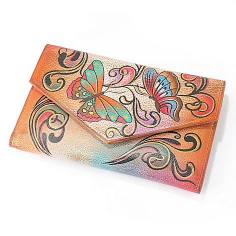 705-897 - Anuschka Hand-Painted Leather Trifold Wallet