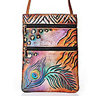706-174 - Anuschka Hand-Painted Leather Mini Cross Body Travel Companion Handbag