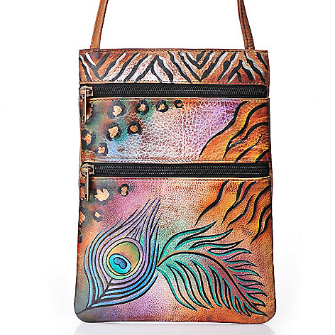 706-174 - Anuschka Hand-Painted Leather Mini Travel Companion Cross Body Bag