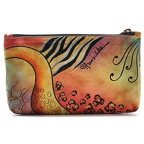 706-181 - Anuschka Hand-Painted Leather Top Zip Cosmetic Case