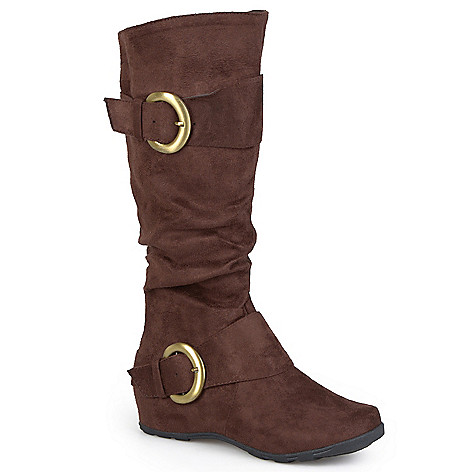 706-852 - Anne Michelle by Journee Buckle Detail Tall Slouch Boots