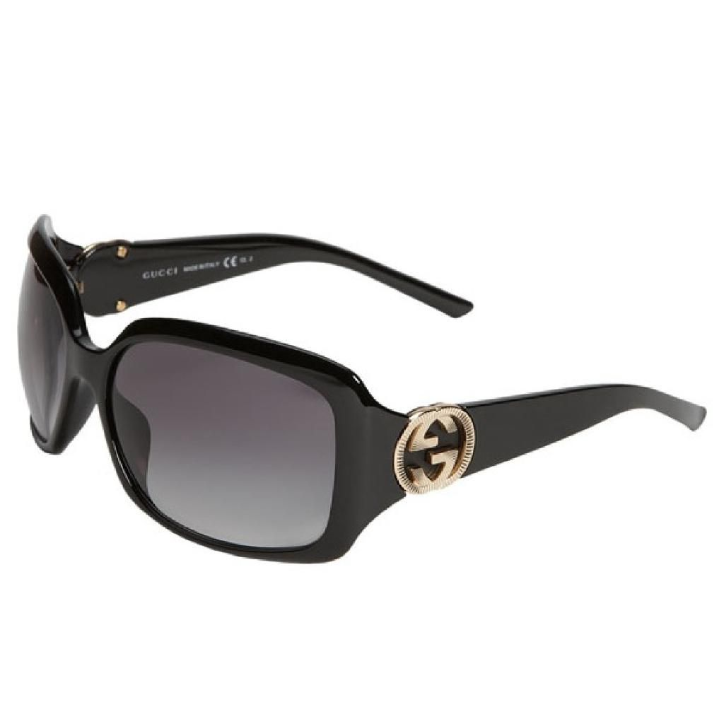 708-889 - Gucci Women's Shiny Black Designer Sunglasses