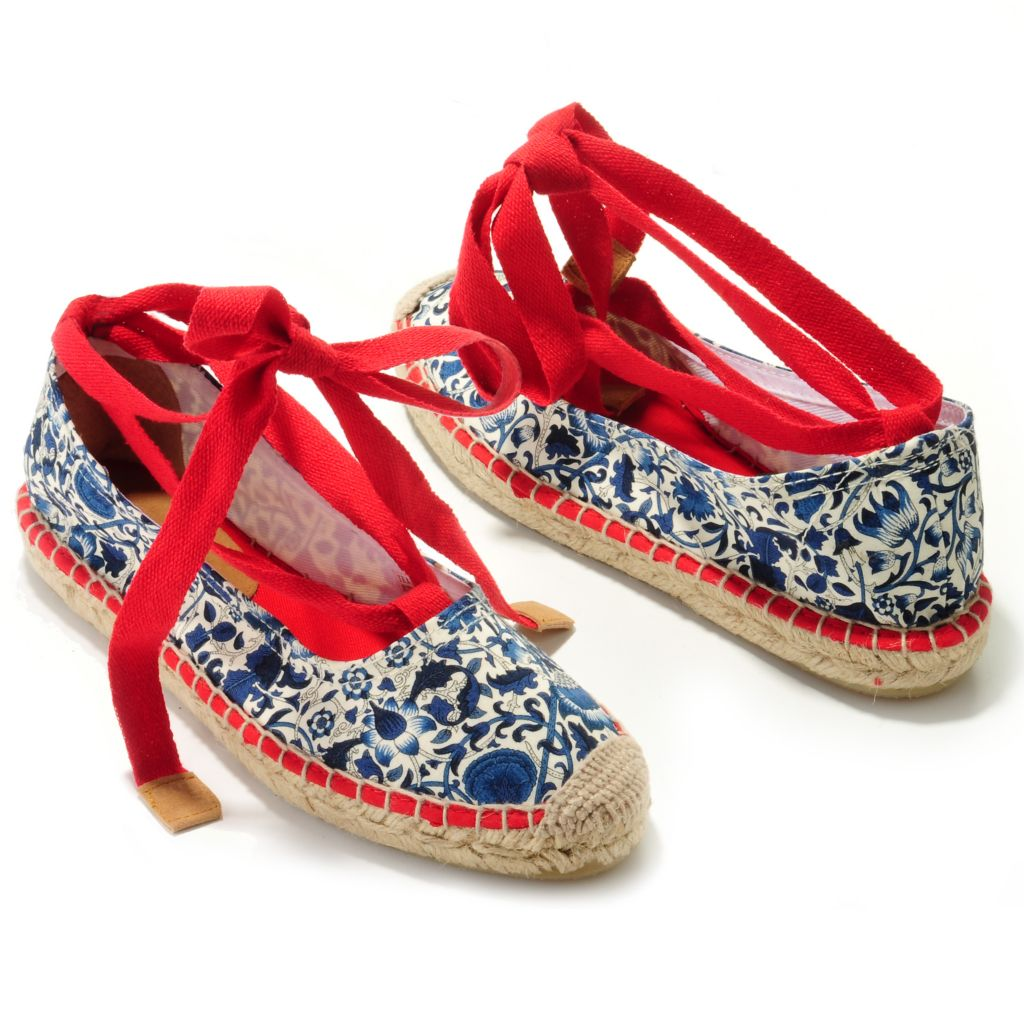 709-204 - Brooks Brothers® Cotton Floral Print Espadrilles