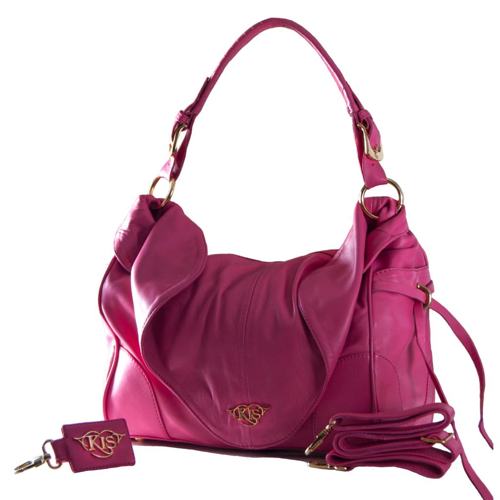"709-331 - KIS® Fashions ""Paula"" Leather Messenger Handbag"