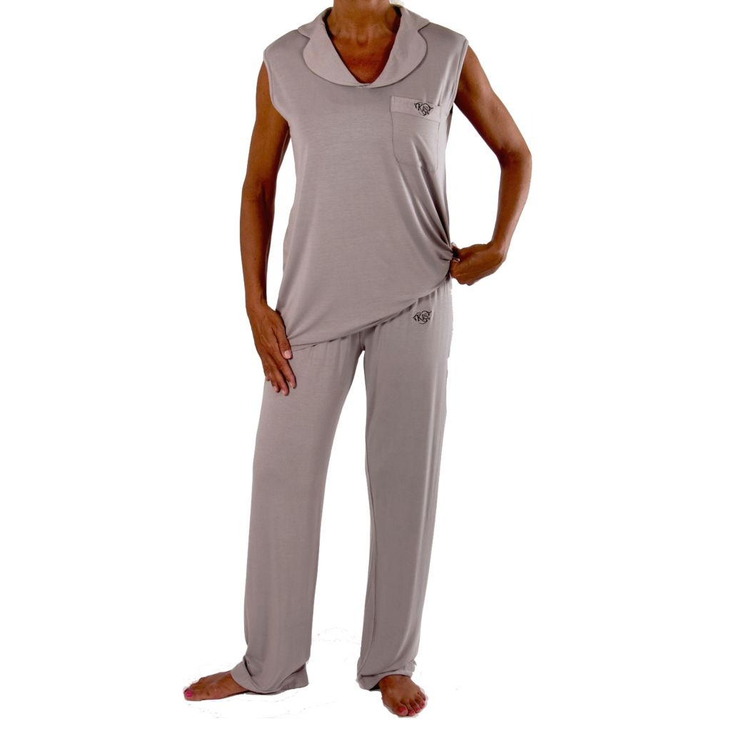 709-351 - KIS® Fashions Luxury Collar Tank Top & Pant Pajama Set