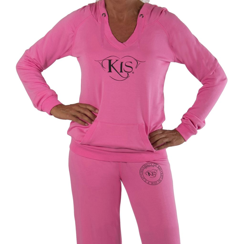 709-352 - KIS® Fashions Luxury V-Neck Loose Fit Pajama Hoodie