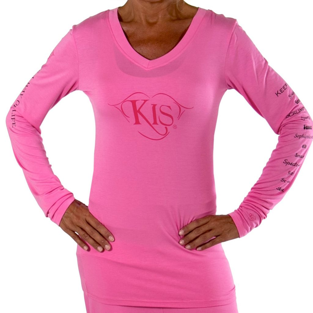 709-353 - KIS® Fashions Luxury Long Sleeved V-Neck Pajama Tunic Top