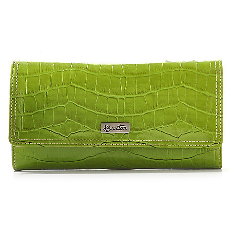 709-477 - Buxton® RFID Protected Crocodile Embossed Wallet
