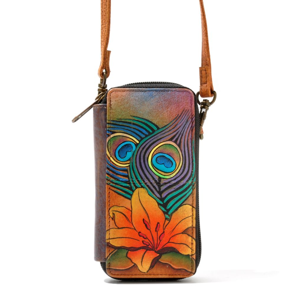 709-744 - Anuschka Hand-Painted Leather Smart Phone Wallet