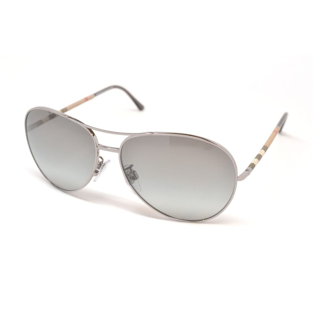 709-755 - Burberry Unisex Gray Checked Designer Sunglasses