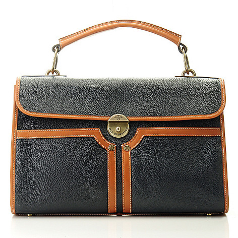 709-938 - PRIX DE DRESSAGE Leather Flap Over Satchel